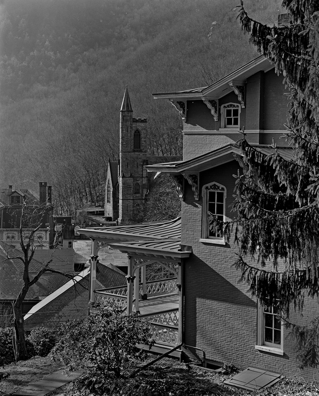 VIEW FROM ASA PACKER MANSION - BLACK AND WHITE LANDSCAPES