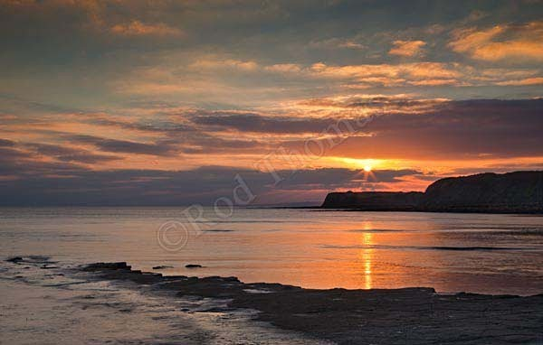 Sunset at Kimmeridge Bay - LRPS panel
