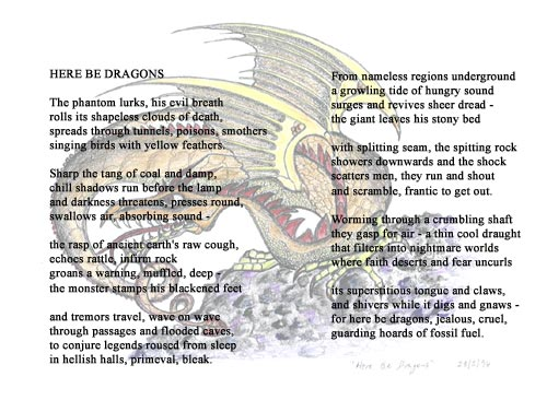 Here Be Dragons - Illustrated Poetry