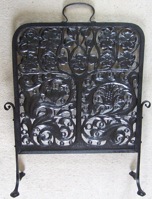 John Pearson Arts & Crafts copper firescreen SOLD - Archive sold items