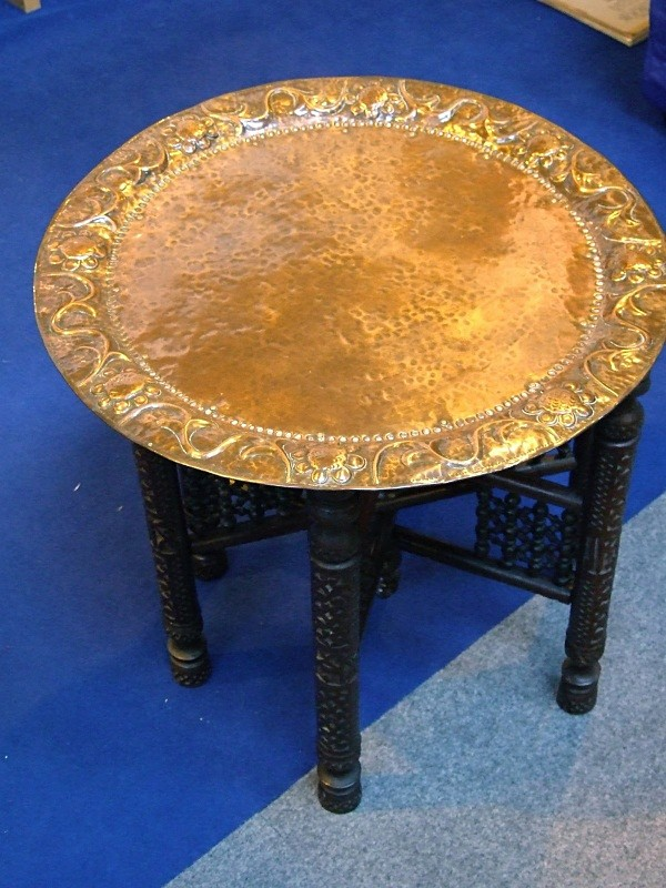 John Pearson arts & Crafts copper teatable - furniture