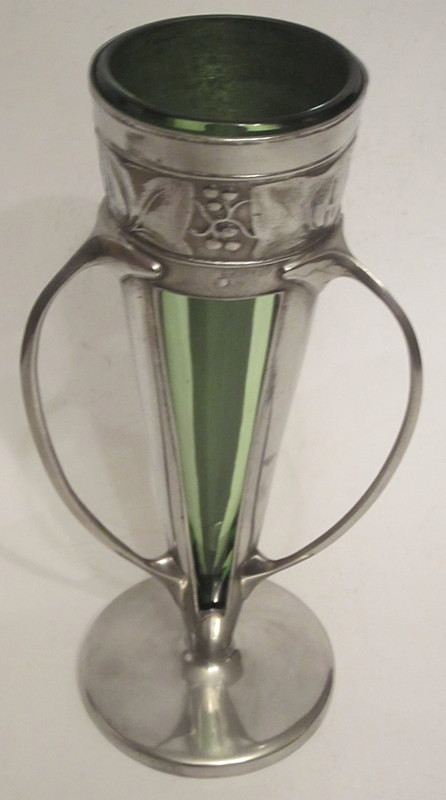 SOLD Archibald Knox for Liberty vase - Decorative arts metalwork
