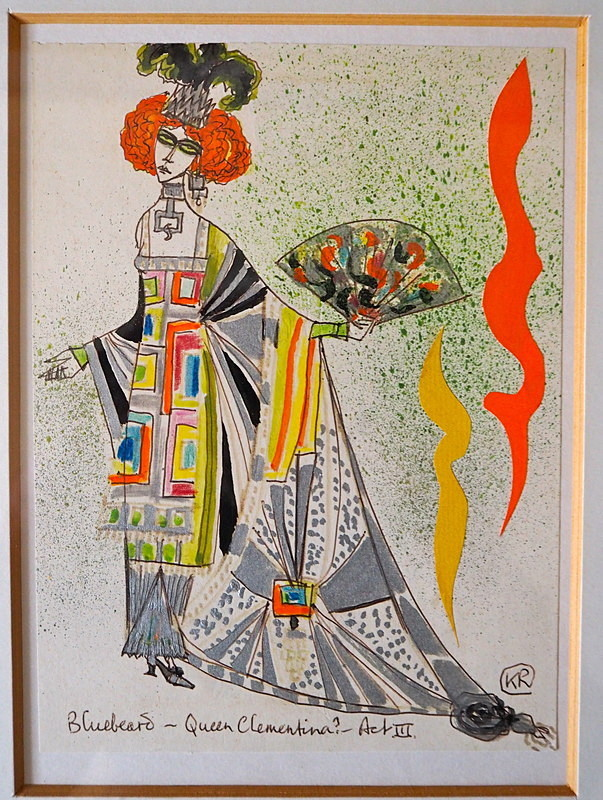 Opera costume design Kenneth Rowell - Art works on paper