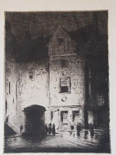 Joseph Gray 'Hight Street Edinburgh' Etching - Art works on paper