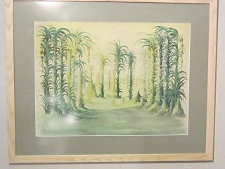 Loudon Sainthill watercolour 'The Tempest - Art works on paper