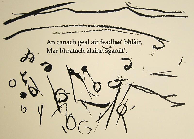 An canach geal - a-mach an gleann: screenprints