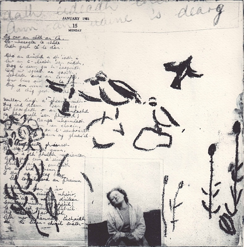 ann an uaine 's dearg - photopolymer etchings