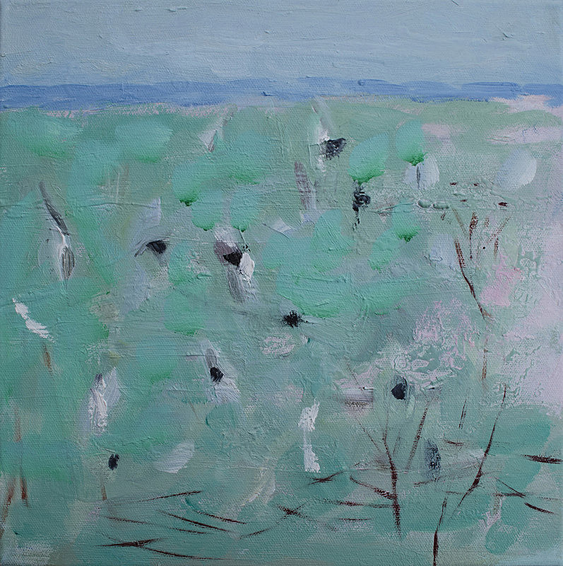 Flock of Dunlin - paintings from field-sketches