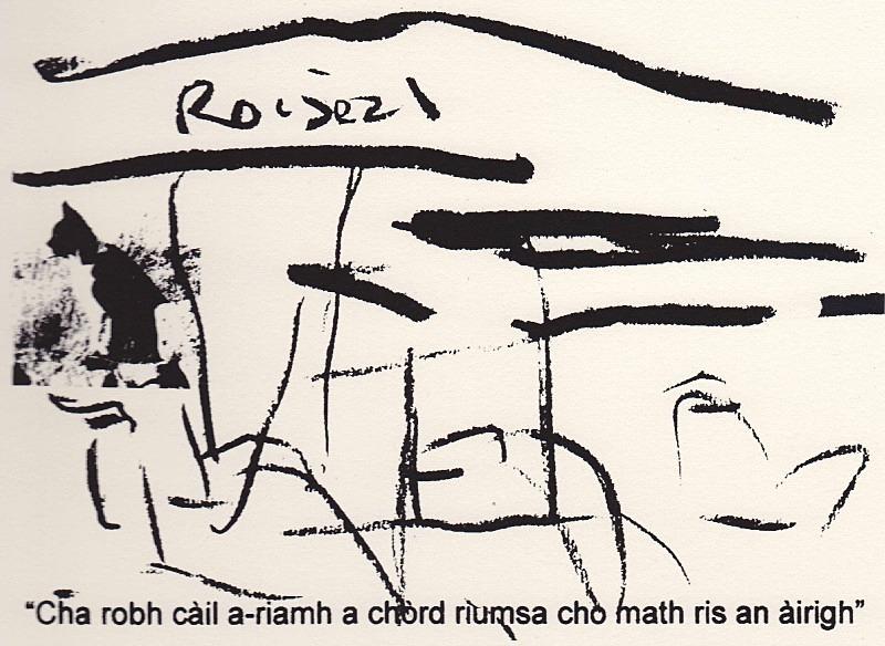 Roiseal - a-mach an gleann: screenprints