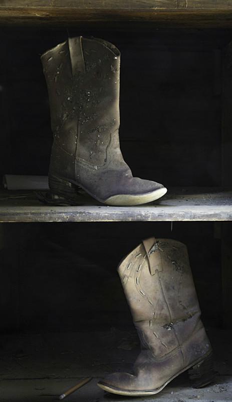 Two boots, Owanka South Dakota. - Abandoned America