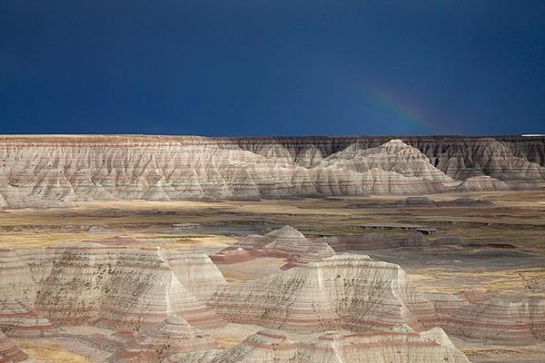 Passing storm, Badlands. - American Landscape