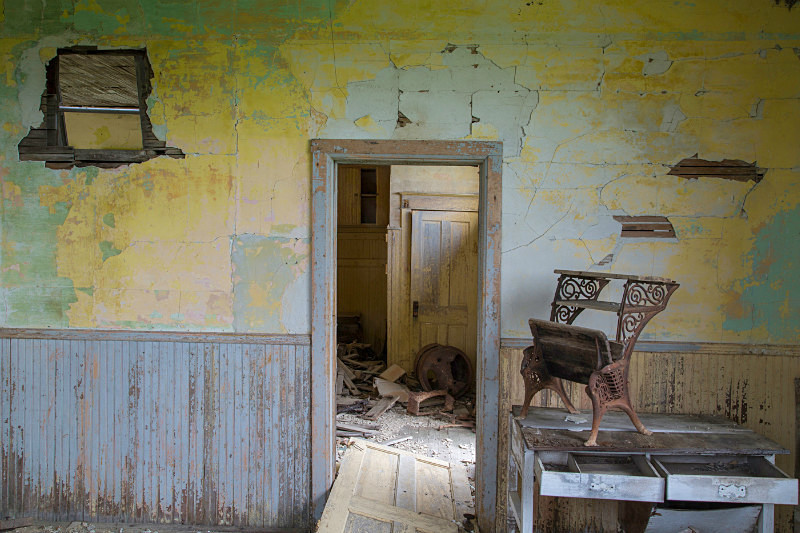 School Interior, Griffin ND. - Abandoned America