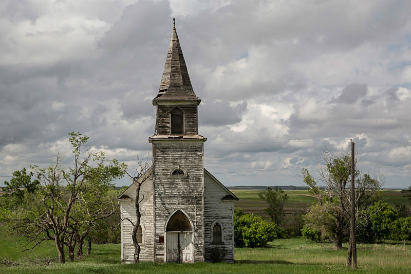 Church at Heil, North Dakota. - Abandoned America