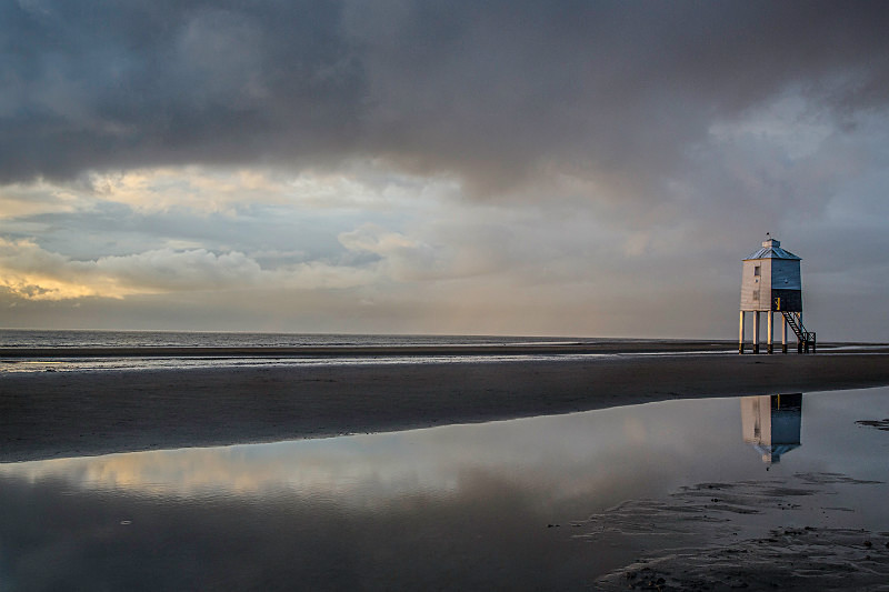 Burnham Beach, Somerset - Coastal Britain