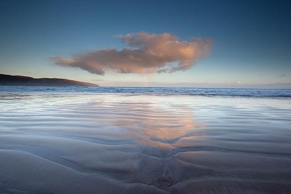 Reflected cloud, beach at Dingle. - Coastal Britain