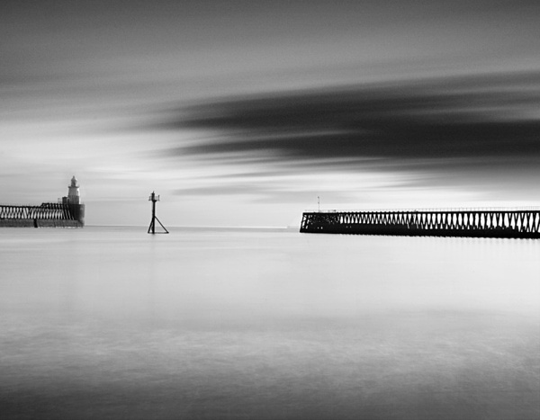 Harbour at Blythe. - Monochrome Landscape Europe