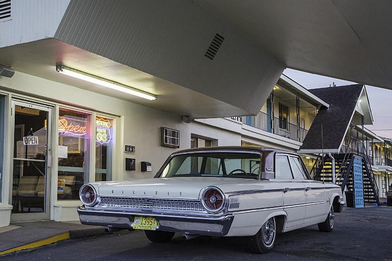 Motel Entrance, Tucumcari, - Route 66