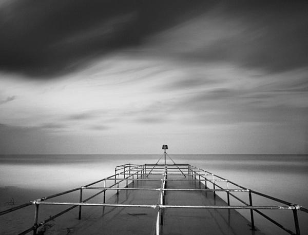 Bournemouth beach. - Monochrome Landscape Europe