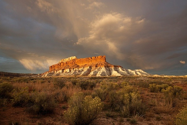Passing storm over Steamboat Rock. - American Landscape