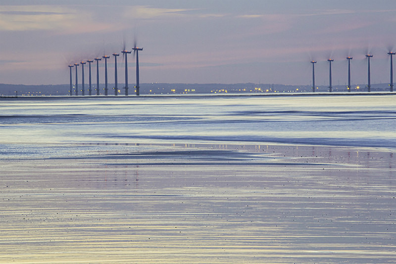 Wind turbines, Redcar, No1. - Coastal Britain