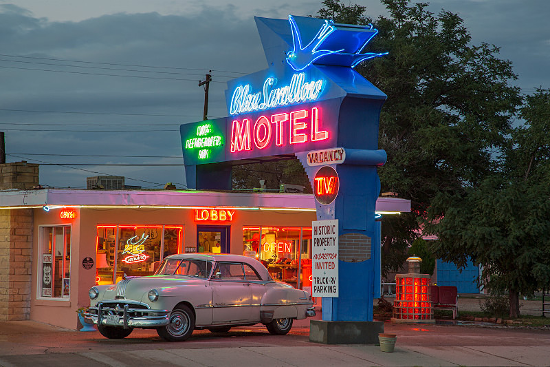 Blue Swallow Motel, Tucumcari NM. - Route 66