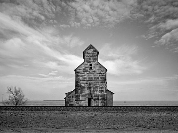 Silo and railroad. - Abandoned America