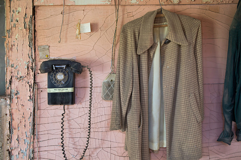 Coat & Telephone, Devon Montana. - Abandoned America