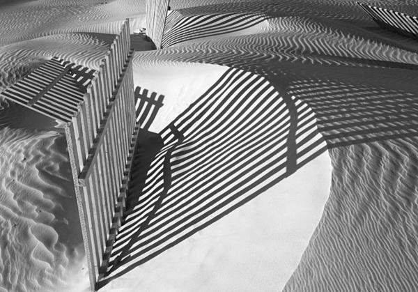 Sand-dunes and breaker 2. - Monochrome Landscape Europe