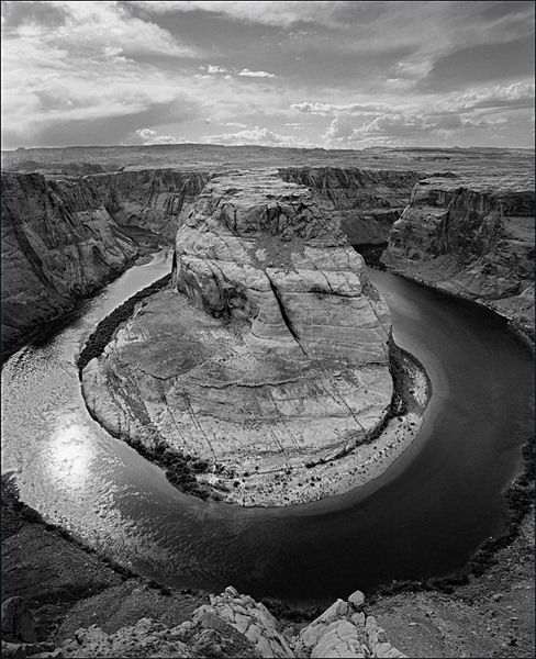 Colorado river, downstream from Glen Canyon dam. - Monochrome Landscape America