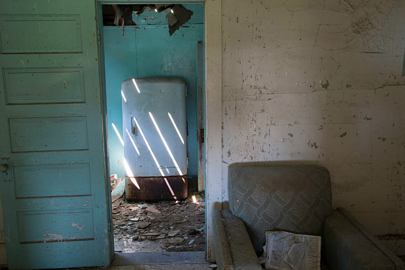 Interior, Ingomar, Montana. - Abandoned America