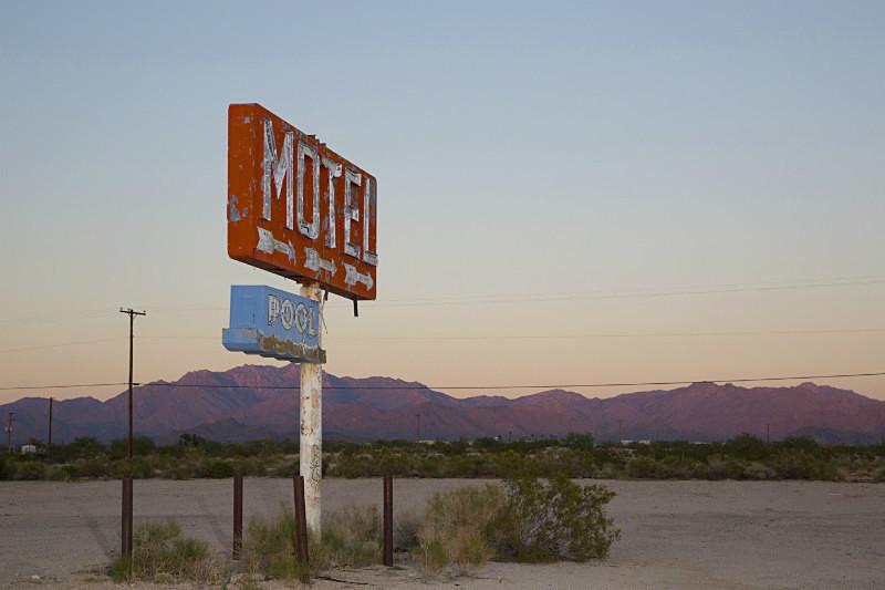 Motel Pool, Yucca Az, - Route 66