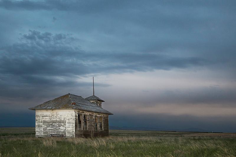 Abandoned School near Havre, Montana. - Abandoned America