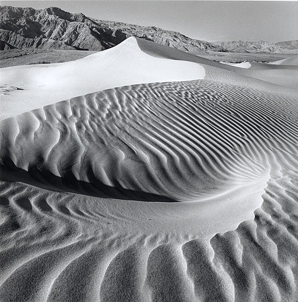 Indentation in the sand, Death Valley - Monochrome Landscape America