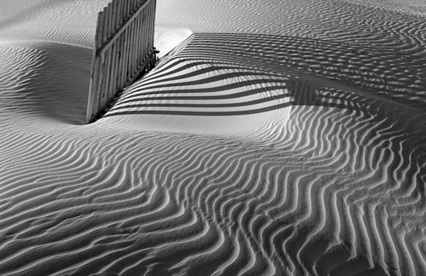 Sand-dunes and breaker 1. - Monochrome Landscape Europe