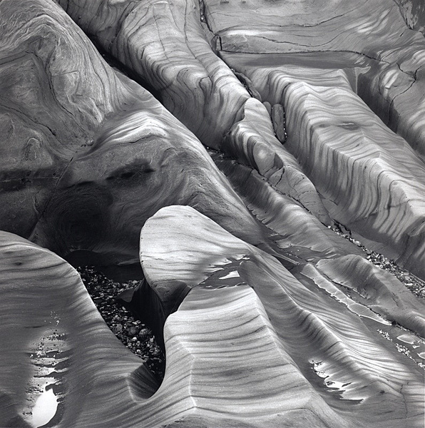 Intertidal zone, Morthoe. - Monochrome Landscape Europe