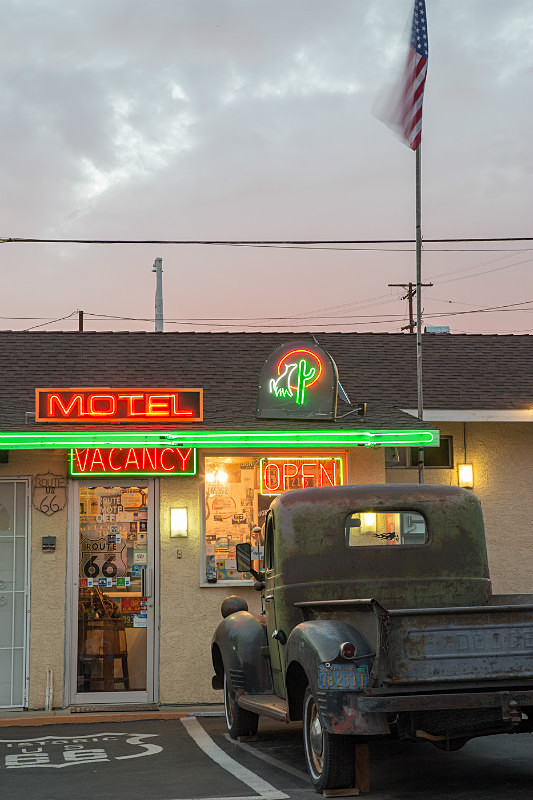 Motel, Route 66, Barstow. - Route 66