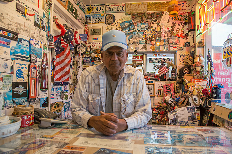 Victor; owner of Route 66 Motel, Barstow. - Route 66
