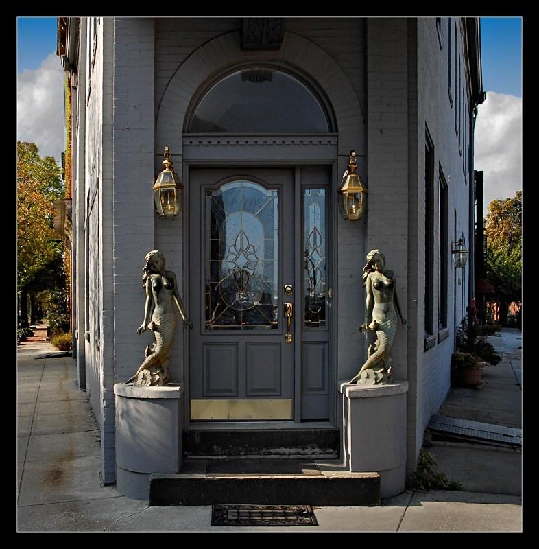 Door Statues - Building Elements