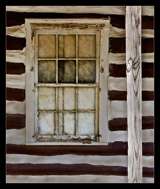 Log Cabin Window - Building Elements
