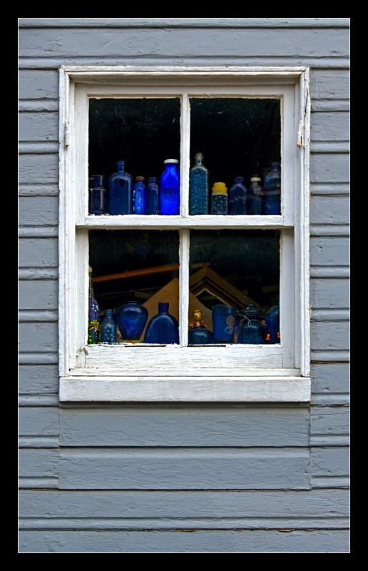 Blue Bottle Window - Building Elements