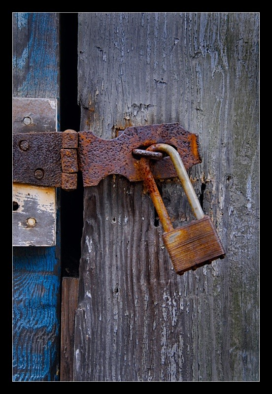 Rusty Lock and Hasp - Building Elements