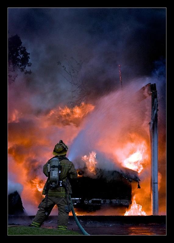 Burning Pickup - Fire!