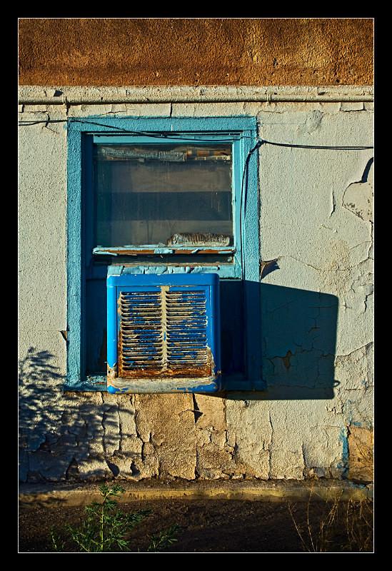 Blue Motel Window - Building Elements