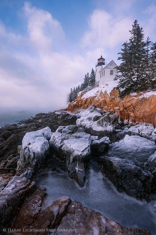 Frozen - Bass Harbor Light - Maine Coast & Mountains