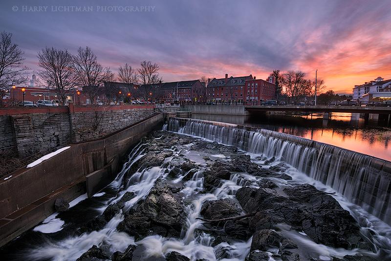 Nightfall - Cocheco Mill Falls - New Hampshire Seacoast