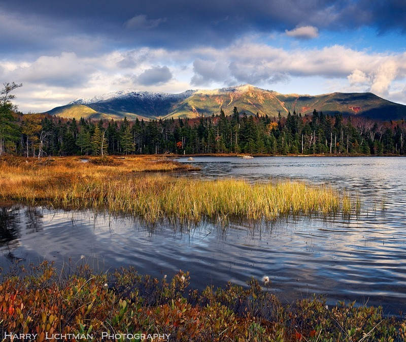 First Snow - Lonesome Lake - New Hampshire Mountains - Streams - Lakes - & Rivers