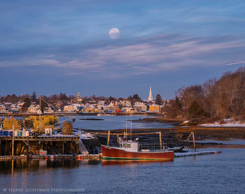 South End Moonset - New Hampshire Seacoast