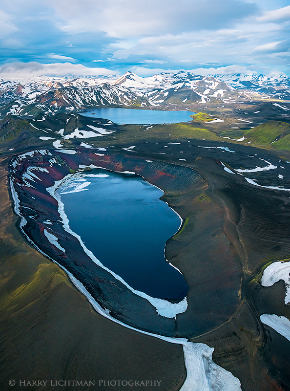 Ljotipollur - Ugly Puddle - Aerial Iceland