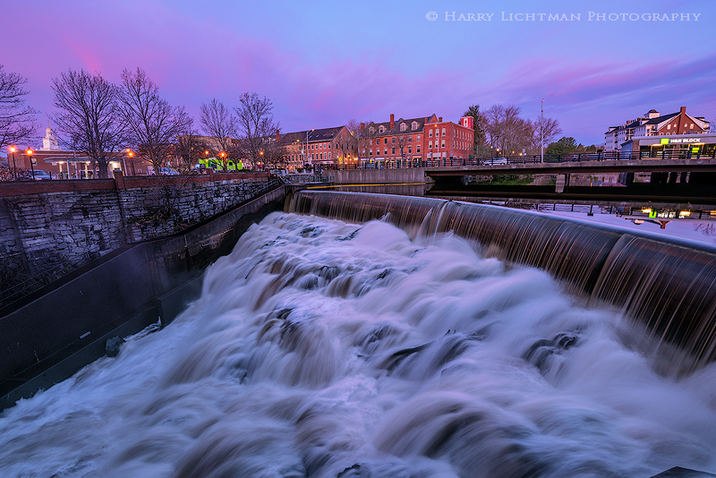 Cocheco Falls Sunrise - New Hampshire Seacoast