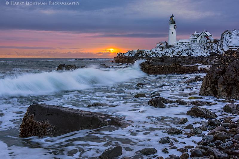 Breaking Through - Maine Coast & Mountains